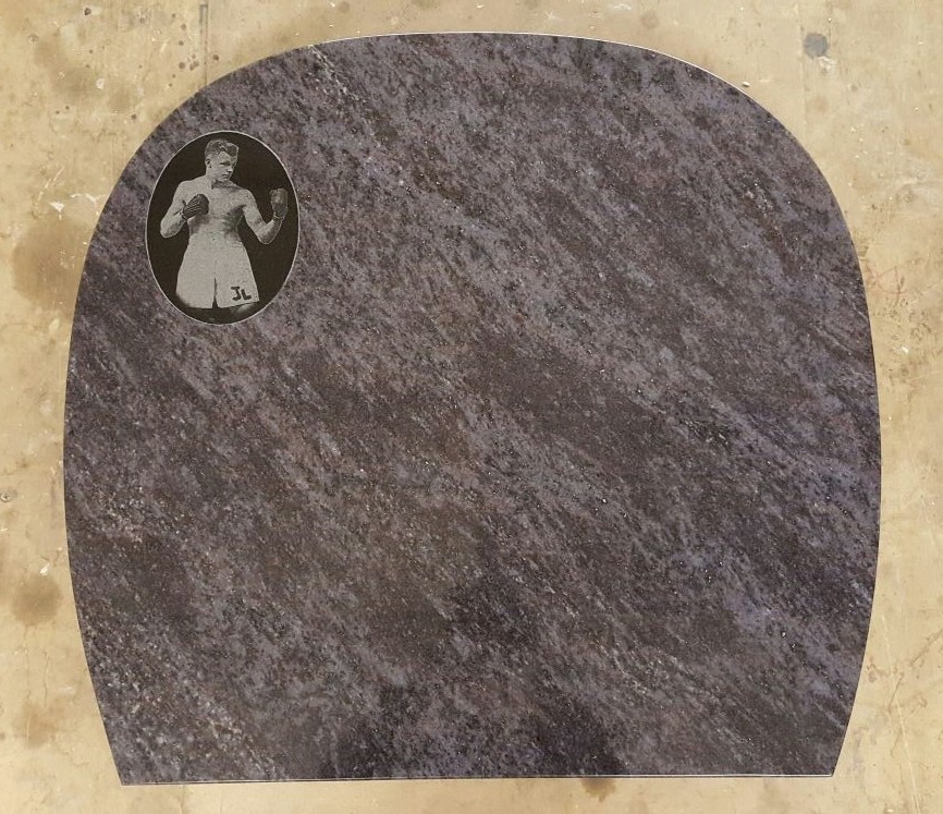 Laser Etching Example by Derbyshire Memorials